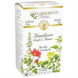 Celebration Herbals Organic Hawthorne Leaf and Flower Tea Caffeine Free - 24 Tea Bags