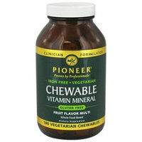 Pioneer Nutritionals Pioneer - Chewable Vitamin Mineral Iron-Free Fruit Flavor - 180 Chewables