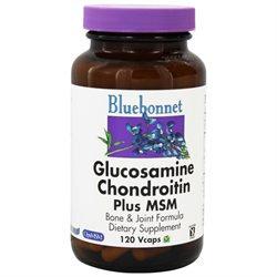 Bluebonnet Nutrition - Glucosamine Chondroitin Plus MSM - 120 Vegetarian Capsules