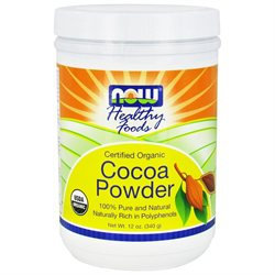 NOW Foods - Cocoa Powder Certified Organic - 12 oz.