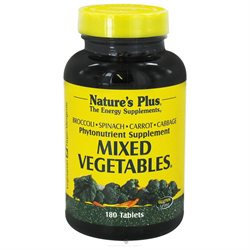 Mixed Vegetables 180 Tablets from Nature's Plus