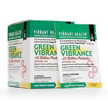 Vibrant Health Green Vibrance, 15 Single Serving Packets