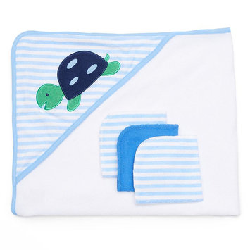 Just Born Whale Hooded Towel And Washcloth Set