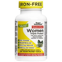 Super Nutrition - Simply One Women Iron Free Multivitamin - 30 Tablets