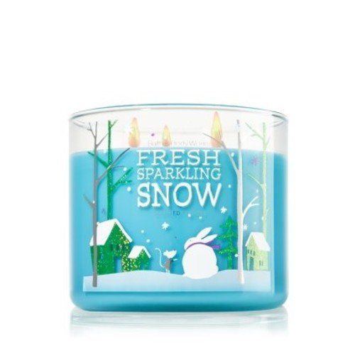 Bath & Body Works Bath and Body Works Fresh Sparkling Snow Scented Candle