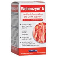 Garden of Life Wobenzym N - 400 Tablets
