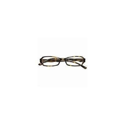 Zoom Reader Reading Eyewear 3/4-Eye Plastic Rectangular Frame with Scalloped temples in Tortoise, +1.25