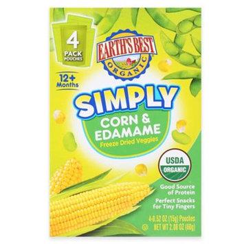 Hain Celestial Earth's Best Organic Freeze Dried Corn & Edamame Snack