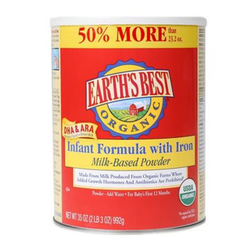 Earth's Best Organic 35 oz. Infant Formula with DHA & ARA and Iron