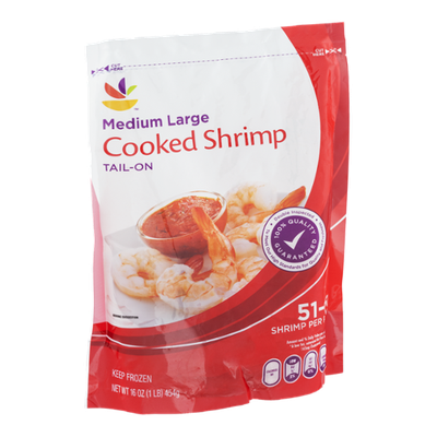 Ahold Cooked Shrimp Medium Large Tail-On