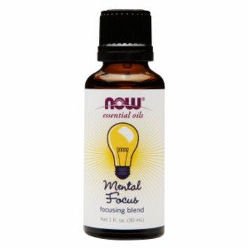 NOW Essential Oils Mental Focus Blend, 1 fl oz