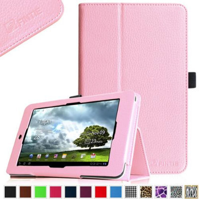 Fintie Folio Leather Case Cover for ASUS MeMO Pad HD 7-inch ME173X Tablet, Pink