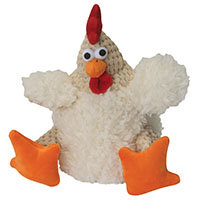 Go Dog goDog Fat White Rooster Dog Toy Small