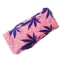 Plantlife Marijuana Weed Leaf Cotton various Colors Men/Women High sport Socks [BJF25-1Red+Black Leaf]