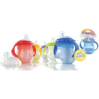 Nuby BPA FREE No-Spill Cup w/ Soft Spout & Handles, 1-pk, Boy Colors