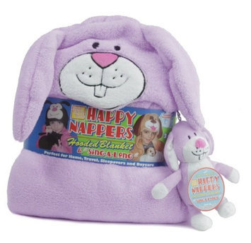 Happy Nappers Hooded Blanket and SingaLong Bunny