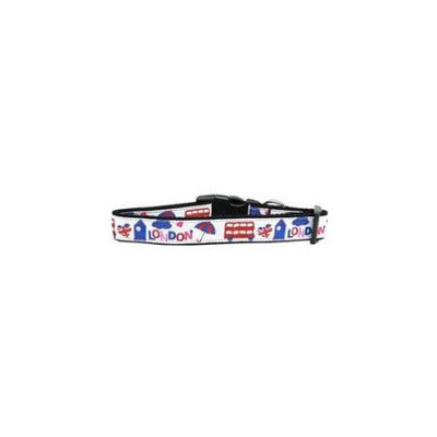 Ahi London Town Nylon Dog Collar Medium
