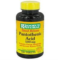 Good 'N Natural - Pantothenic Acid Time Release 500 mg. - 100 Tablets