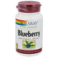 Solaray Blueberry Leaf Extract - 100 mg - 60 Capsules