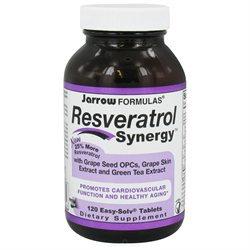 Jarrow Formulas Resveratrol Synergy - 120 Tablets - Vegan