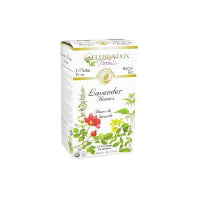 Celebration Herbals - Organic Caffeine Free Lavender Flowers - 24 Tea Bags