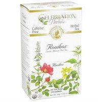 Celebration Herbals Organic Red Rooibos Tea Caffeine Free - 24 Tea Bags