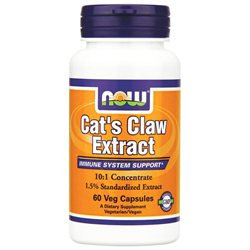 NOW Foods - Cat's Claw Extract 101 Concentrate/1.5 Standardized Extract - 60 Vegetarian Capsules formerly Cat's Claw