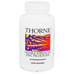 Thorne Research Zinc Picolinate Double Strength - 180 Vegetarian Capsules