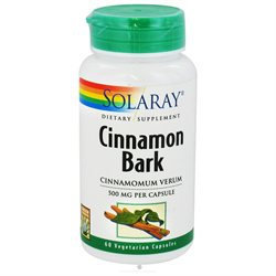 Solaray Cinnamon Bark - 500 mg - 60 Vegetarian Capsules