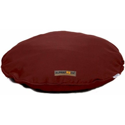 AlphaPooch Drifter Round Fabric Dog Bed, Garnet, Extra Large