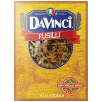 DaVinci Whole Wheat Fusilli-Spirals, 12-Ounce Boxes (Pack of 12)