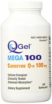Tishcon Corp Q-Gel Hydrosoluble Coenzyme Q10 100mg 180ct.