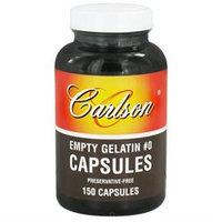 Carlson Labs - Empty Gelatin Capsules Size 0 Medium - 150 Capsules
