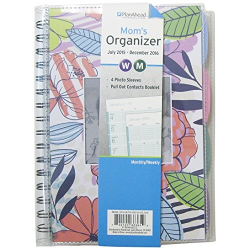 PlanAhead Mom's 18 Month Planner, July 2015 -December 2016, Assorted Colors, Color May Vary (86364)