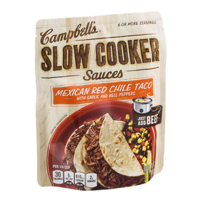 Campbell's® Slow Cooker Sauces Mexican Red Chile Taco with Garlic and Bell Peppers