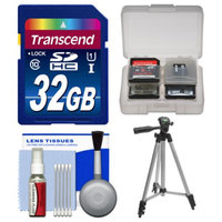 Transcend Essentials Bundle for Samsung HMX-F90, Q20, QF20, QF30 HD Camcorder with 32GB Card + Tripod + Accessory Kit