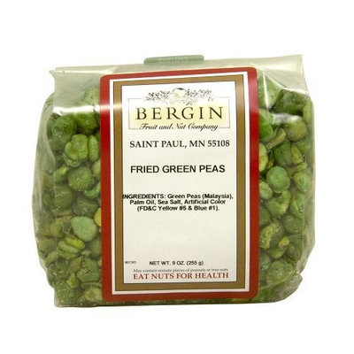Bergin Nut Company Peas Fried Green, 9-Ounce Bags (Pack of 6)