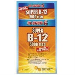 Vitamin B12 Hi-Ener-G 5000 mcg, 30 ct, Windmill Health Products
