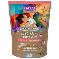Halo Purely For Pets Spot's Stew Senior Cat Formula Grain Free Chicken & Salmon - 6 lbs