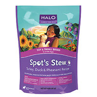 Halo Purely For Pets Spot's Stew for Dogs Toy & Small Breed Turkey Duck & Pheasant - 10 lbs