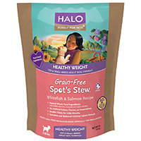 Halo Purely For Pets Spot's Stew Healthy Weight for Small & Toy Breed Adult Dogs Whitefish & Salmon 10 lbs