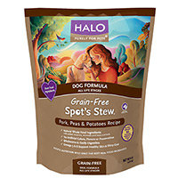 Halo Purely For Pets Spot's Stew Dog Formula Grain Free Pork Peas & Potatoes - 14 lbs
