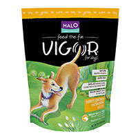 Vigor by Halo - Natural Dry Dog Food Turkey Chicken & Salmon Recipe - 14 lbs.