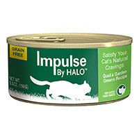Halo Purely For Pets Impulse By Halo Cat Food Grain Free Quail & Garden Greens Recipe 5.5 oz