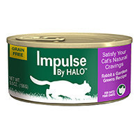 Halo Purely For Pets Impulse By Halo Cat Food Grain Free Rabbit & Garden Greens Recipe 5.5 oz