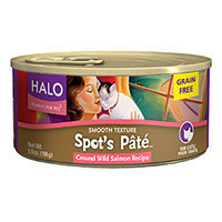 Halo Purely For Pets Spot's Pate Cat Food Grain Free Ground Wild Salmon Recipe - 5.5 oz