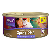 Halo Purely For Pets Spot's Pate Cat Food Grain Free Ground Turkey & Duck Recipe - 5.5 oz