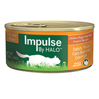 Halo Purely For Pets Impluse By HALO Cat Food Grain Free Chicken Egg & Garden Greens 5.5 oz