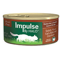Halo Purely For Pets Impluse By HALO Cat Food Grain Free Guinea hen & Garden Greens 5.5 oz