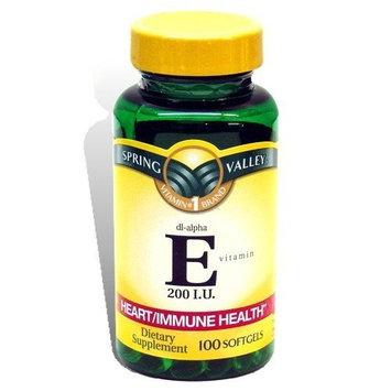 Spring Valley - Vitamin E dl-alpha 200 IU, 100 Softgels